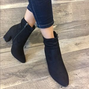 Shoes - Black Modern Western Ankle Bootie